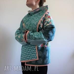 hand-made płaszcze płaszcz patchworkowy - waciak