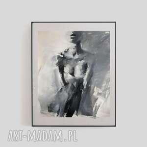 Woman galeria alina louka grafika kobieta, czarno biała grafika
