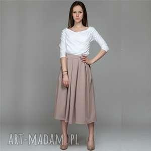 spódnice audrey skirt spódnica z kontrafałdami, spódnica, dzianina, bawełna