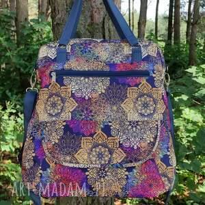 torebka listonoszka - tęczowe mandale, elegancka, nowoczesna, pakowna, prezent