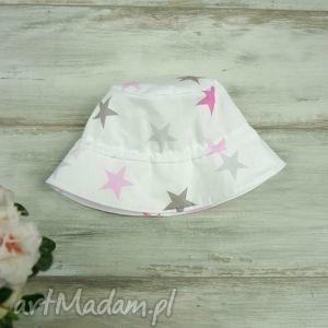 kapelusz dla dziecka gwiazdki - szare dla dziecka, bawełna