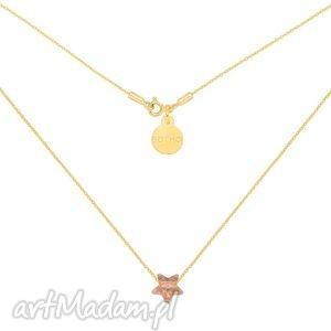złoty naszyjnik ze złotą kryształową gwiazdką