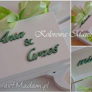 Personalizowane pudełko na obrączki, pudełko, ślub, wesele, imiona