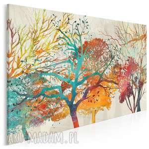 Obraz na płótnie - drzewa natura kolorowy 120x80 cm 88801 vaku