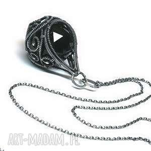 Black-kryształ Swarovski, wisior, kryształ, swarovski, srebro