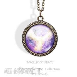 naszyjniki medalion, talizman - anielski kontakt angelic contact antyczny