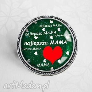 Prezent Broszka przypinka - NAJLEPSZA MAMA, matki, mama, mamy, prezent, dzień, napisy