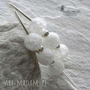 lodowe w srebrze, kryształ, lodowe, srebro, eleganckie, długie, ażurowe, wyjątkowy