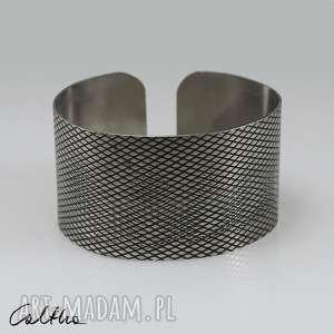 hand made łuska - metalowa bransoletka 190111 -05