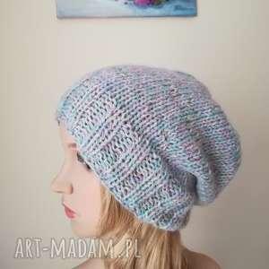 Subtelne pastele czapka, rękodzieło, pastele, zima