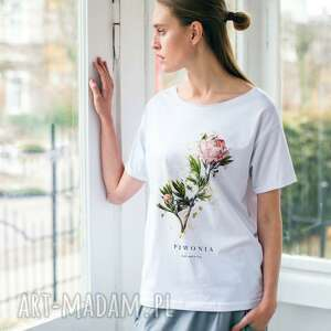 handmade koszulki piwonia oversize t-shirt