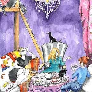 spotkanie wiedźm akwarela artystki plastyka adriany laube, akwarela, wiedźma, kobieta