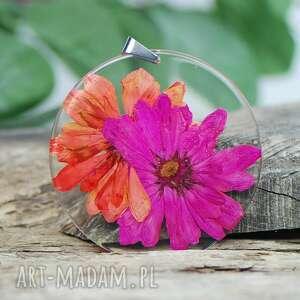 handmade naszyjniki naszyjnik z kwiatami w soczystych kolorach z331