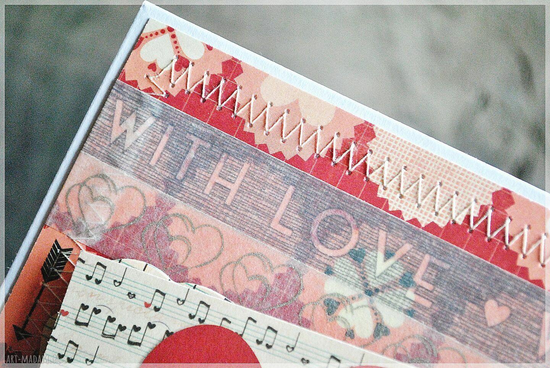 czerwone scrapbooking kartki kartka walentynki