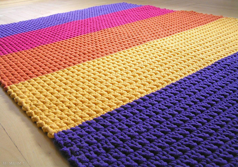 handmade dywany dywan tęczowy
