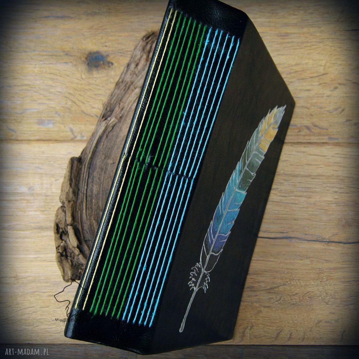 ręcznie wykonane notesy pióro notes a5 z twardą okładką