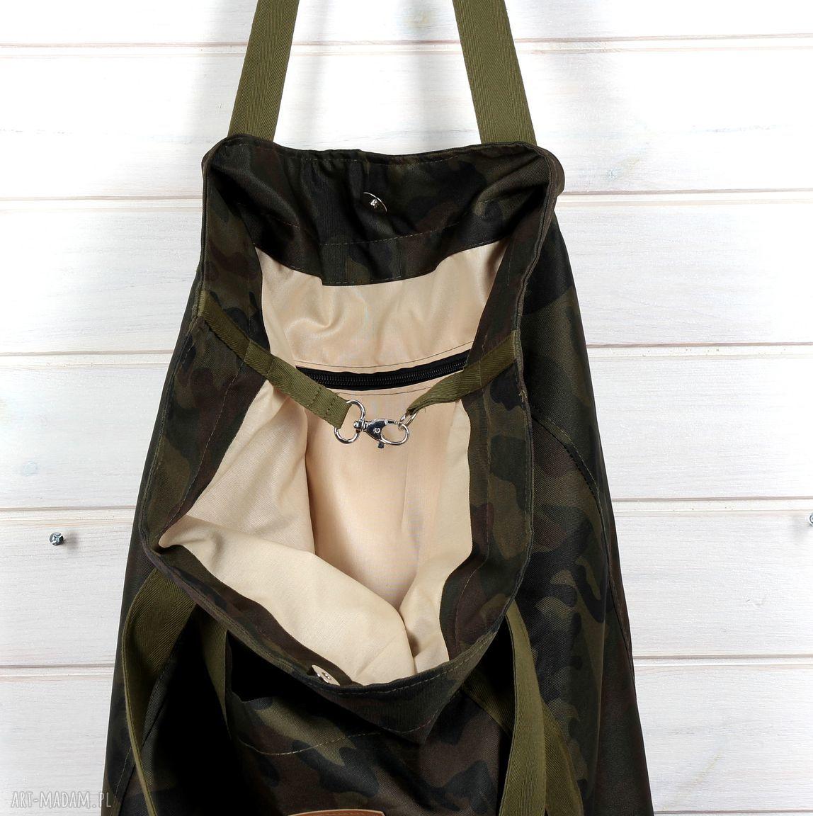brązowe na ramię pojemna torba moro xxl