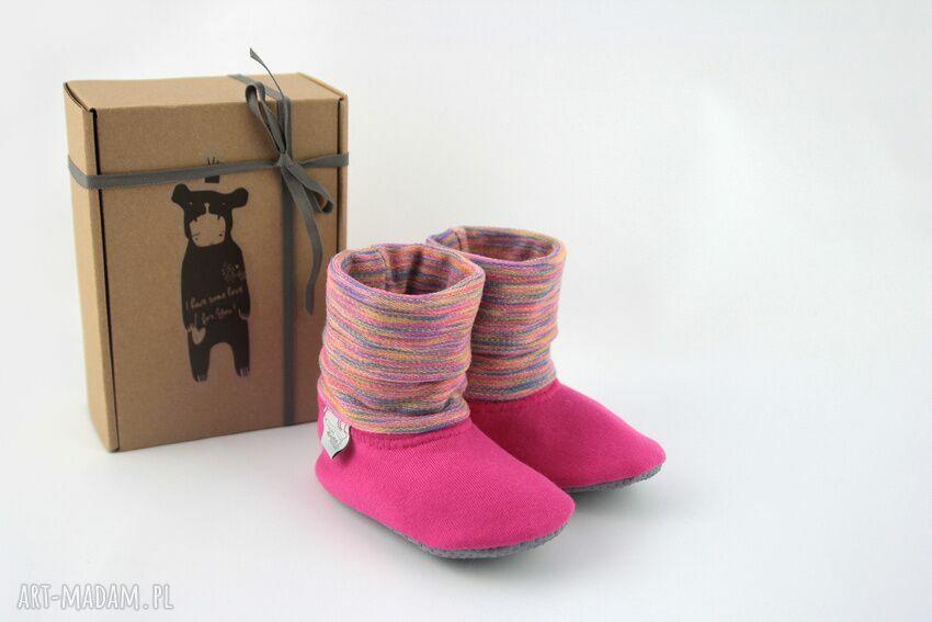 unikatowe buciki papcie bambosze z golfem / handmade