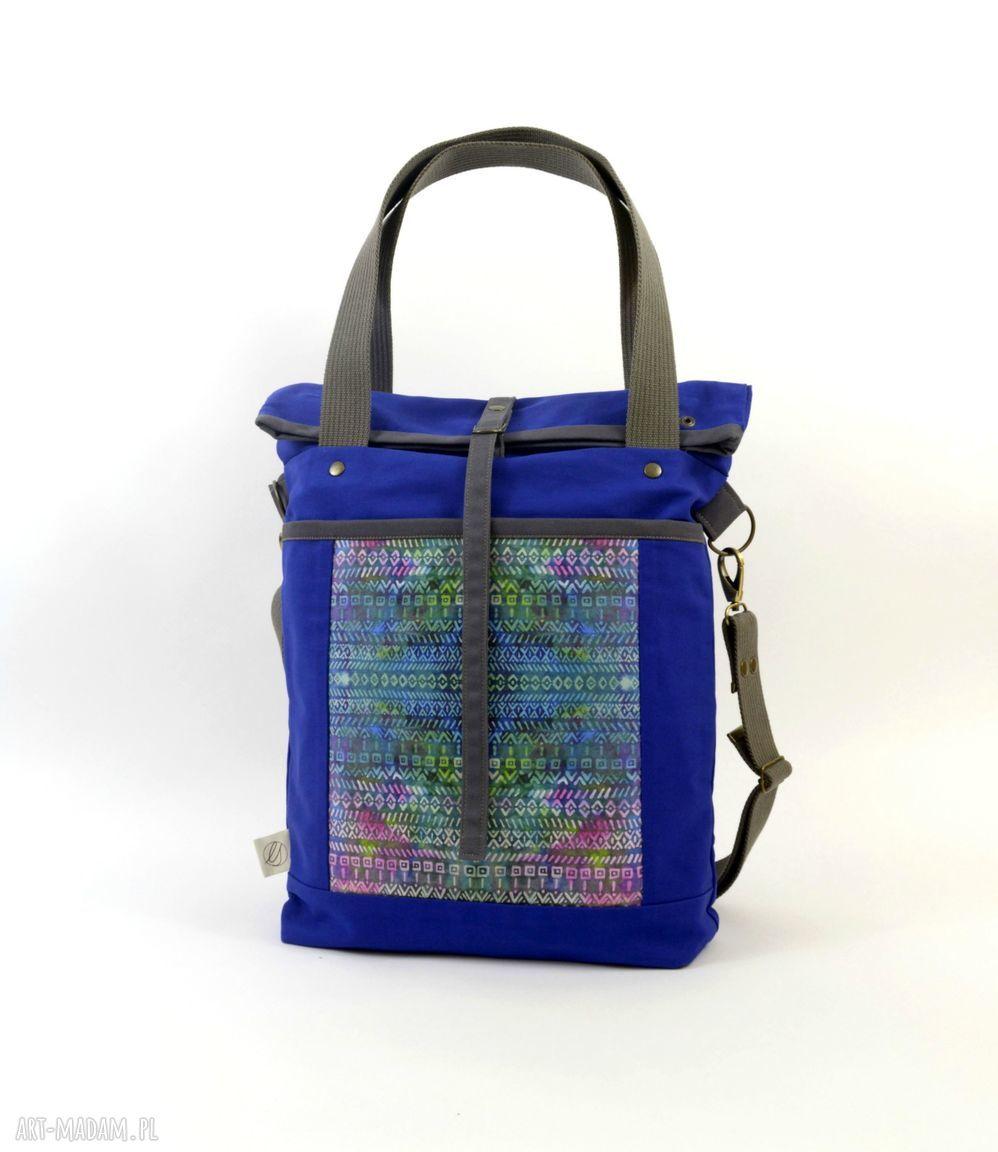 hand-made pomysły na święta prezenty torba na ramię blue aztek