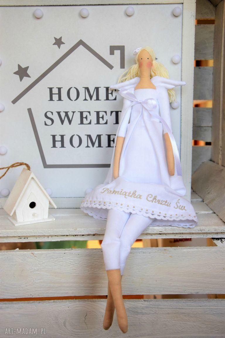 hand-made lalki anioł na pamiątkę chrztu świętego