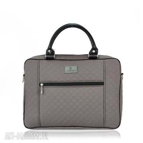 torba na laptopa 1028, praktyczna, pojemna, pikowana, wygoda, na-ramię, laptop