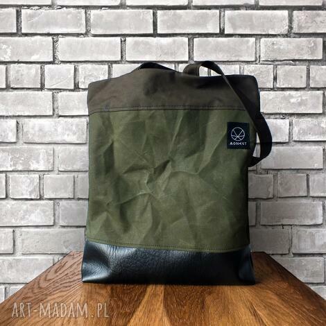 na ramię torebka torba canvas crushed, płótno, szkoła, prezent, khaki, święta