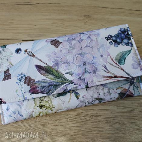 kopertówka - bzy i ważka, elegancka, nowoczesna, prezent, wieczorowa, wizytowa