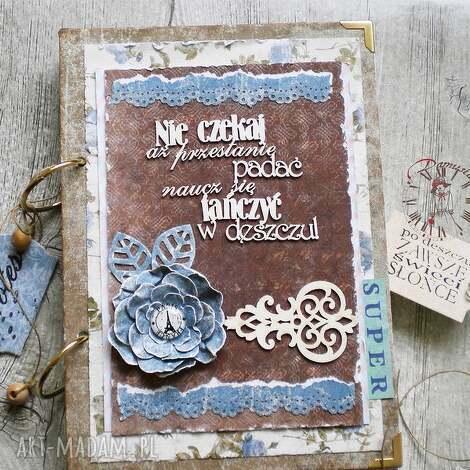 stylowy paryski notatnik/pamiętnik vintage, notatnik, paryski, wieża, eiffla, kwiaty