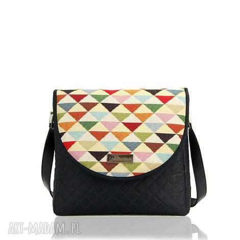 torebka puro 313 triangles, pikowana, klapka, trójkąty, pod choinkę prezent