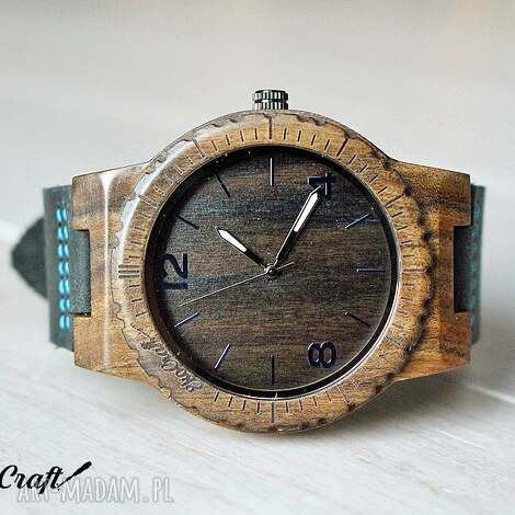 prezent na święta, drewniany zegarek hawk, zegarek, drewniany, heban, drewno, skóra