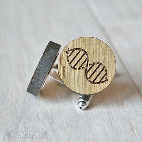 dębowe spinki do mankietów dna - ekologiczne, drewniane, spinki, dna