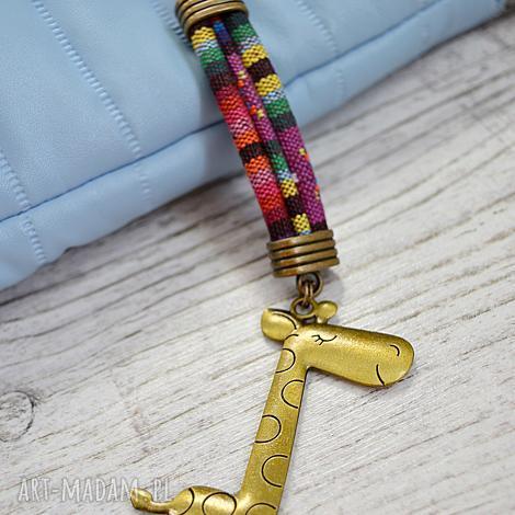breloki brelok boho montezuma z żyrafą stare złoto, żyrafą, styl