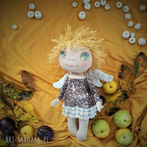 e-piet aniołek - dekoracja ścienna - figurka tekstylna ręcznie szyta