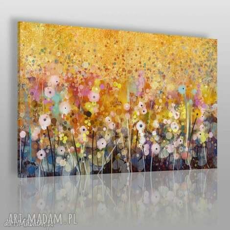 obraz na płótnie - ogród kwiaty abstrakcja 120x80 cm 62101, ogród