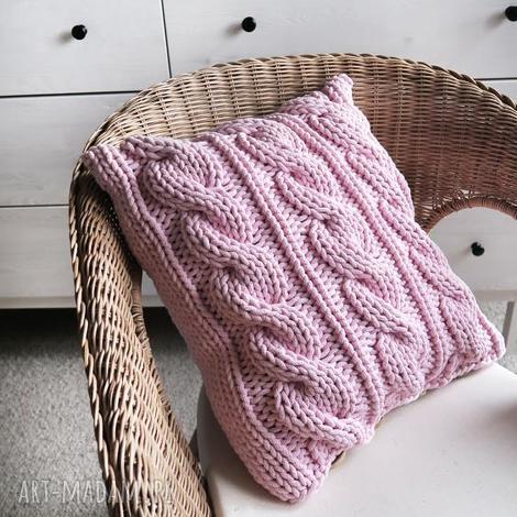 poduszki poduszka w warkocze 45 x cm, sznurek, bawełna, ze sznurka