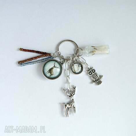 breloczek - jeleń 3, home guardian, brelok, jeleń, sowa, opiekun, dmuchawiec