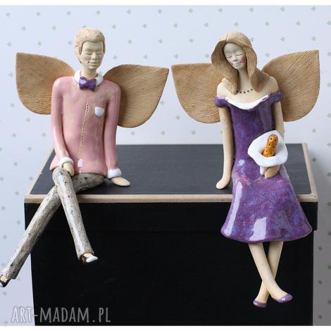 para anielska viii, anioły, ceramika, ślub, figurki dom