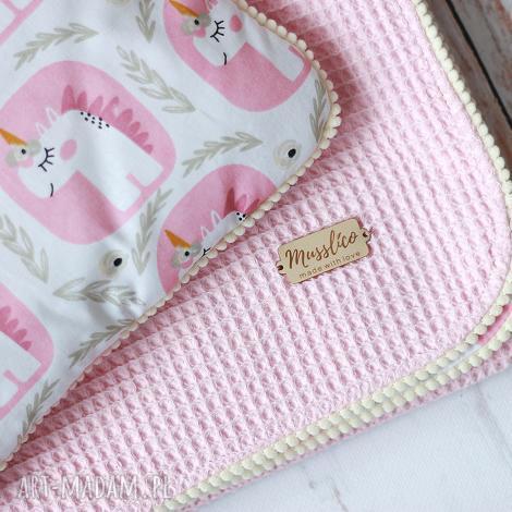 kocyk i poduszka-jednorożce, pokoik, otulacz dziecko kołderka
