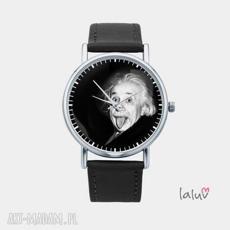 zegarek z grafiką einstein - fizyka, naukowiec, geek, prezent, nauka, teoria