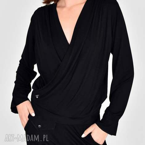 bluzki bluzka jola w kolorze czarnym, bluzki, dres, marynarka, bluzy, komplet