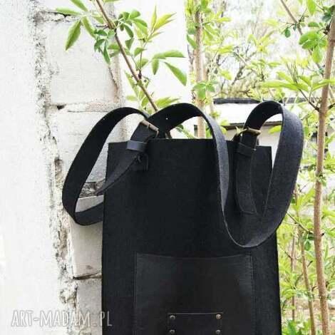na ramię torebka filcowa, skóra, torebka, naramię, filc, czarny, damska, świąteczny