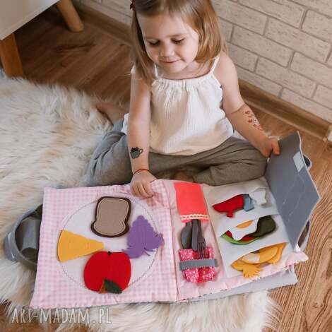 timosimo - ksiązeczka sensoryczna quiet book dla dziewczynki od 3 lat