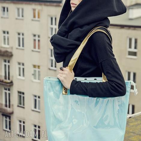 dd07205d667b4 Turkusowe torebki do 200 zł. Handmade torba worek, na ramię ...