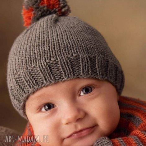 b a l czapka kolorowy pompon, czapka, prezent, dziecięca, ciepła