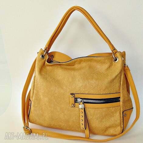 76f4eb02e1a80 Żółta torba z kieszeniami