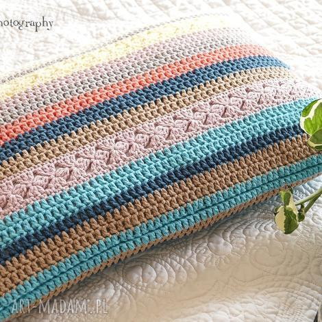 poduszki poduszka multikolor no 1, poduszka, poszewka, bawełna, szydełkowa