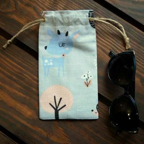 etui / bawełniany woreczek na okulary, etui, prezent, sarenka
