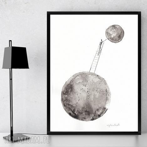 art krystyna siwek oryginalna grafika czarno-biała minimalizm, obraz abstrakcyjny