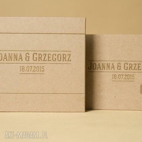 zestaw pudełek - na pendrivea oraz płytę cd, etui, ślub, pendrive, grawer, eko
