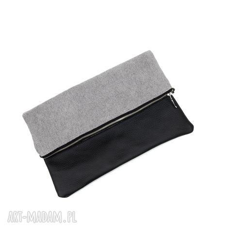 klasyczna kopertówka do ręki skóra naturalna, kopertówka, pikowana, skórzana, prezent